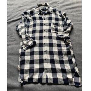 ZARA Basic Collection plaid shirt dress